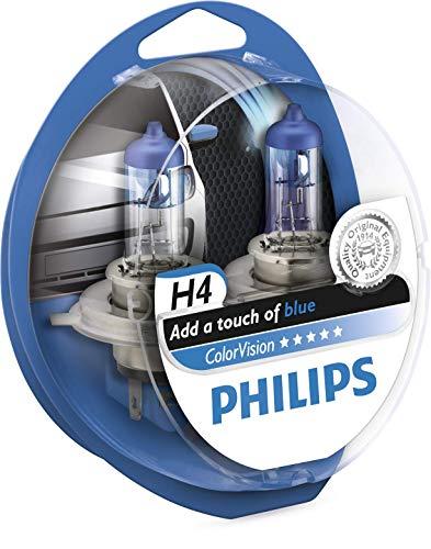 Preisvergleich Produktbild Philips 12342CVPBS2 Fahrzeuglampe ColorVision H4,  Blau,  2 Stück