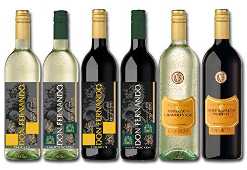 Langguth Erben Spanien Weinreise Probiepaket Halbtrocken (4 x 0.75 l + 2 x 1 l)