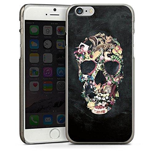 Apple iPhone 5s Housse étui coque protection Crâne vintage Tête de mort Crâne CasDur anthracite clair