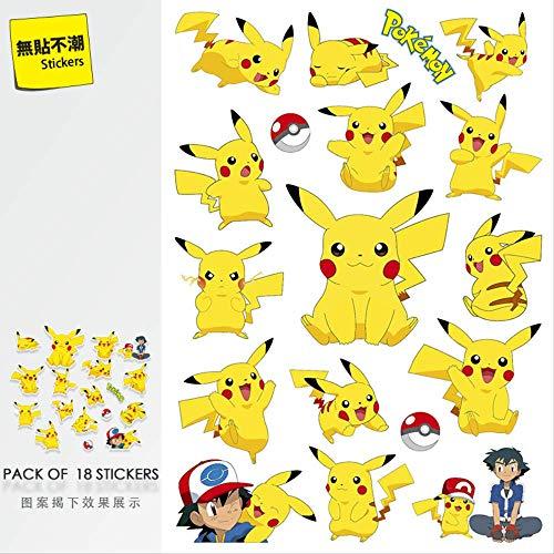 YLGG Pokemon Pikachu Koffer Aufkleber Cartoon Laptop Aufkleber wasserdichte Gitarre Skateboard Ins 85