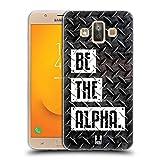 Head Case Designs Be The Alpha Fitness Typographie Soft Gel Hülle für Samsung Galaxy J7 Duo (2018)