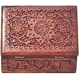 [Sponsored]Nexplora Industries Handmade Wooden Jewellery Box For Women Jewel Organizer (15*10 Cm) - B07D9MP2SR