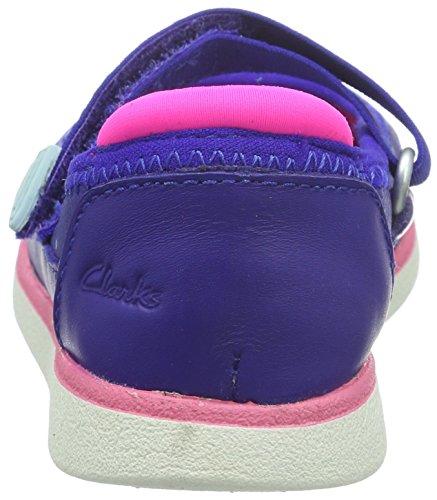 Clarks Tri Bitsey Inf, Mädchen Knöchelriemchen Sandalen, Blau (Blue Leather), 27 EU (9 Kinder UK) -