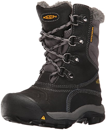 Keen Unisex-Kinder Basin Wp Trekking-& Wanderstiefel Schwarz (black/gargoyle)