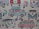 Baumwollstoff Chatham And Glynn Wohnwägen VW Bus