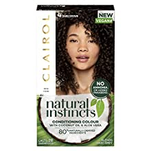 Clairol Natural Instincts Semi-Permanent No Ammonia Vegan Hair Dye, 4 Dark Brown, 177 ml