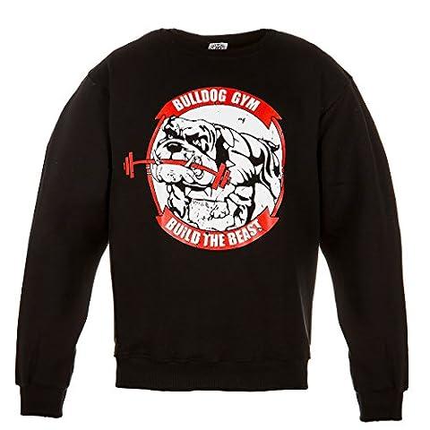 Gym Motivation Sweatshirt. Rule Out Fightwear. Bulldog Gym. Build The