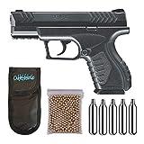 Outletdelocio. Pistola Perdigón Umarex XBG. Calibre 4,5mm BBS. + Funda Portabombonas + Balines + Bombonas co2. 23054/29318/38123