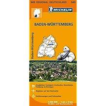 Michelin Baden-Württemberg: Straßen- und Tourismuskarte 1:300.000 (MICHELIN Regionalkarten)