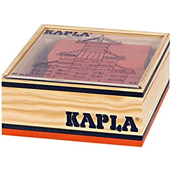 Kapla 9000107 Bois Plattchen 40 Jaune Et Boite 20 Vert