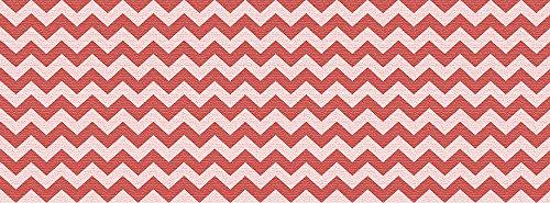 VINILIKO, Alfombra de vinilo, Rojo y Blanco, 66x180 cm