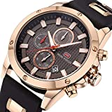 Best Chronograph Watches - Watches Men Sport Watch Fashion Quartz Waterproof Chronograph Review