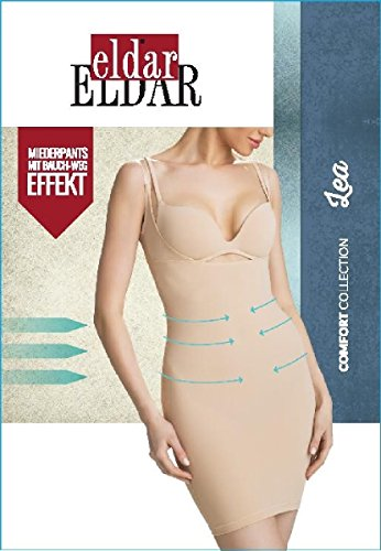 Eldar Damen Miederkleid LEA mit Trägern Weiß