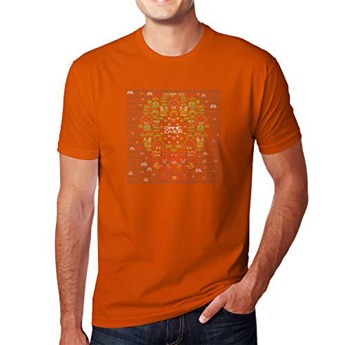 Planet Nerd - Game Over Stitches - Herren T-Shirt, Größe L, (Tetris Kostüme Orange)