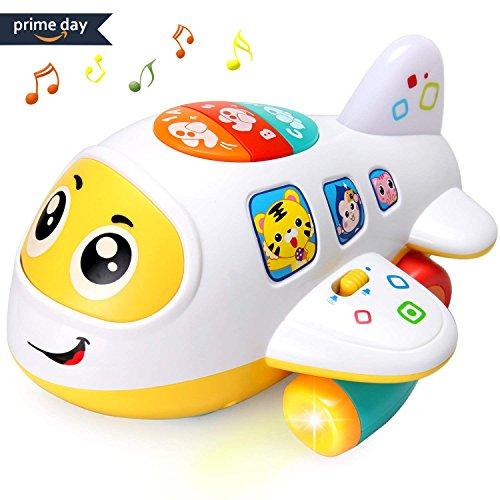 ACTRINIC Baby Elektronisches Flugzeug Licht und Musik Best Pädagogisches Spielzeug für Kinder für Kleinkinder Jungen und Mädchen 1 2 3 4 5 Jahre Alt