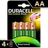 Duracell Recharge Plus AA - Pila recargable 1300 mAh,  4 unidades