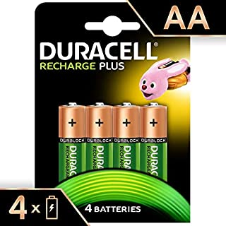 Duracell Recharge Plus AA - Pila recargable 1300 mAh, 4 unidades (B008NF1Y0Y) | Amazon Products