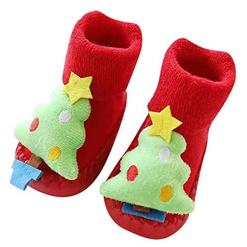 Vovotrade ❅ newborn baby christmas calze da pavimento antiscivolo baby step socks infantile cartoon animal print toddler home scarpe
