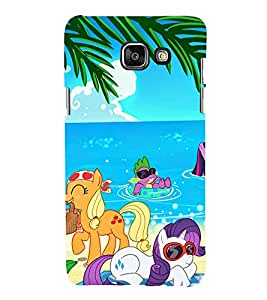 printtech Animated Animal unicorn Back Case Cover for Samsung Galaxy A3 (2016)