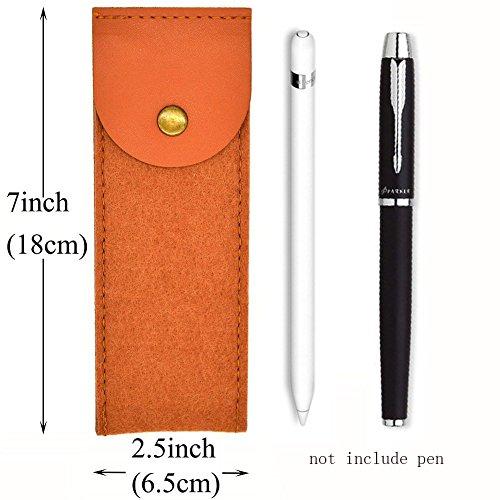 Federmäppchen Wollfilz Stifthalter Tasche für Stifte, Bleistifte, Gelschreiber, Marker und andere Schulbedarf (braun, klein)