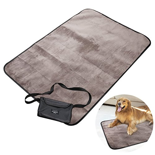 UEETEK Manta para mascotas, impermeable y de felpa manta para perros con...