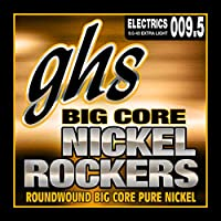 GHS Strings BCXL Big Core Nickel Rockers, Pure Nickel Electric Guitar Strings, Extra Light (.009 1/2-.042)