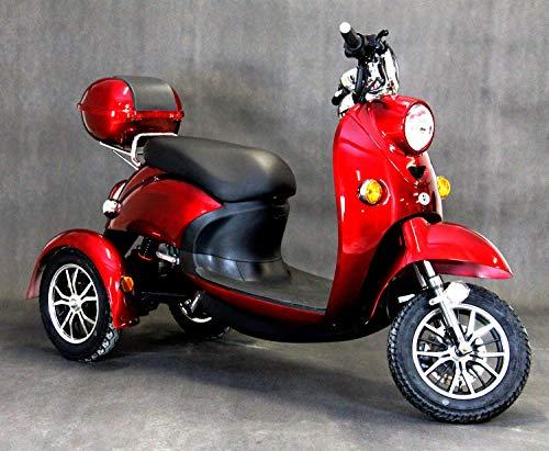 NEU 3 Rad ElektroRoller, Elektromobil, E-Mobil, Seniorenfahrzeug, Elektroroller Erwachsene E-Dreirad 25km/h, ZT-63, 3 Farben