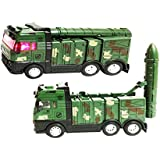 US1984 Die-Cast Metal Military Tank Pull Back With Light And Music For Boys And Girls (Multicolour)