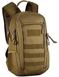 Huntvp Mochila de Asalto Estilo Militar Táctical Molle Bolsa de Bandolera Impermeable 12L Para Las Actividades Aire Libre Senderismo Caza Viajar Camping