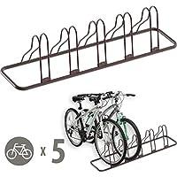 Simple Houseware 5 Bike Bicycle Floor Parking Adjustable Storage Stand, Bronze