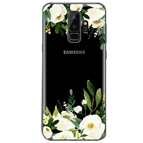 Samsung Galaxy S9 Hülle, Crystal Clear Transparent Handyhülle TPU Silikon Backcover Case Blossom Blühen Blumen Flower Muster Schutz HandyHülle Tasche Hülle für Samsung Galaxy S9 (Galaxy S9, 2)