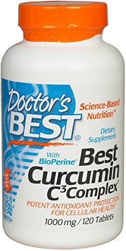 Doctor's Best Curcumin C3 Complex with BioPerine (1000mg, 120 Tablets)