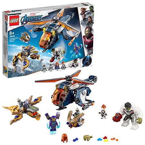 LEGO 76144 - Marvel Super Heroes, Avengers Hulk Helikopter Rettung, Bauset