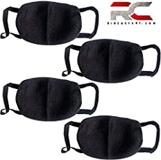 Anti Pollution Mask Washable Dust Mask Air Filter Mask for Pollution Smoke Allergy Mask with Filter 4 Pcs PM2.5 (Unisex Size,Black)