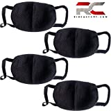 #9: Anti Pollution Mask Washable Dust Mask Air Filter Mask for Pollution Smoke Allergy Mask with Filter 4 Pcs PM2.5 (Unisex Size,Black)
