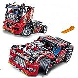 AIYA 608pcs Course Camion Voiture 2 en 1 Transformable modèle Building Block Ensembles decool 3360 Bricolage Jouets compatibles avec Legoe Technic pour Les Enfants Jouet modèle Cadeau
