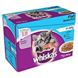 Whiskas Kitten Wet Cat Food Fish Selection in Jelly, 12 x 100g