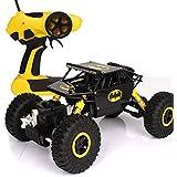 Toyshine ABS Plastic Rock Crawler Remote Control Monster Car, (Black Yellow Assorted)