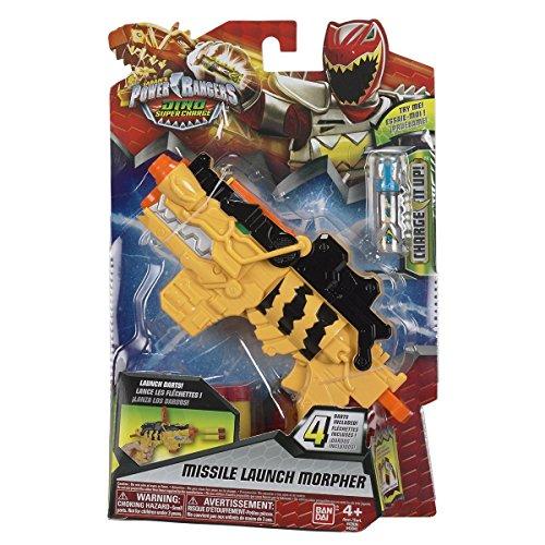 Power Rangers : Dino Super Charge - Morpher Lance Missiles - Blaster avec 4 Flechettes et Charger