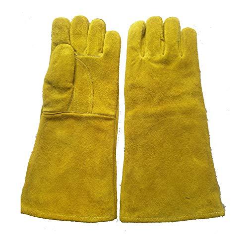 Guante Guantes de barbacoa, guantes de cuero, guantes de parrilla, guantes de...