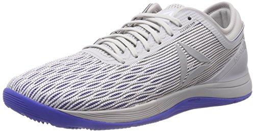 reebok r crossfit nano 8.0, scarpe da fitness uomo, bianco stark skull grey/white/acid blue 000, 40 eu