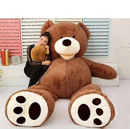 VERCART Teddy Bear Nounours en Peluche Géant Ours Peluches et Doudous Jouet au Premier Age Cadeau d'Anniversaire Decoratif Marron Foncé