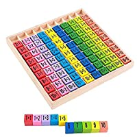 Ankush Multiplication Times Tables Wooden Maths Educational Learning Blocks Children Toy 10 x 10 Figure Blocks