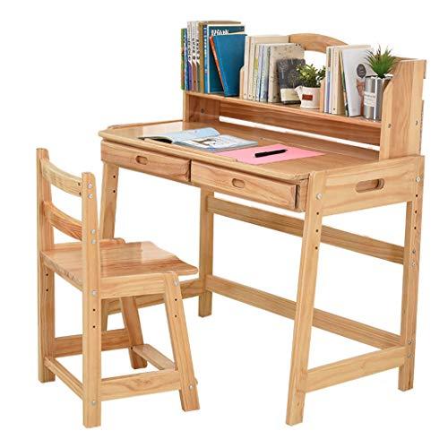 Sedie da scrivania Tavolo da Studio per Bambini sollevabile in Legno ...