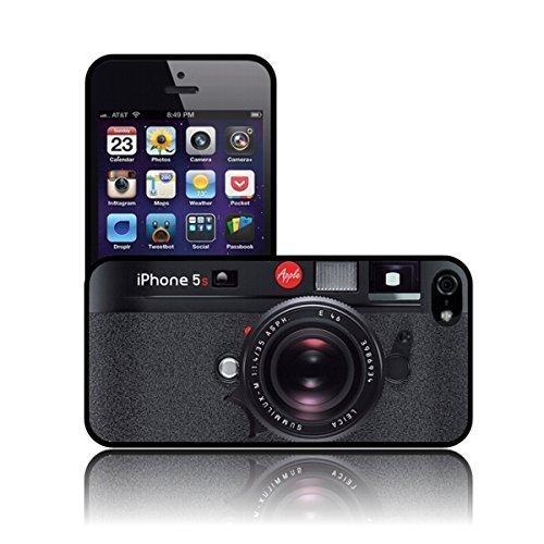 Silikon 'Schwarz Kamera' TPU Schutzhülle iPHONE 5 / 5S Hülle (Niedlich, Iphone 5 Ladegerät)