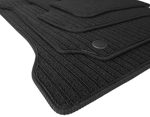 kfzpremiumteile24 Fußmatten/Velours RIPS Automatten Original Qualität Stoffmatten 4-teilig schwarz Einfassung