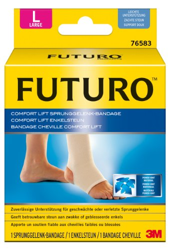 FUTURO FUT76583 Comfort Sprunggelenk-Bandage, beidseitig tragbar, Größe L, 38,0 - 44,5 cm