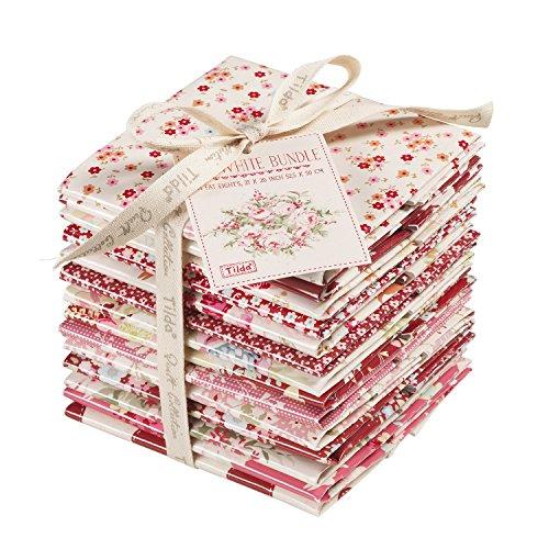 tilda-kohl-rose-fat-acht-bundle-rot-weiss-100-baumwolle-mehrfarbig-50-x-27-cm-14-teilig