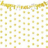 Gold Frohes Neues Jahr Glitzer Banner Glitzernden Funkeln Stern Banner für Silvester Urlaub Weihnachten Party Dekoration Lieferungen (Stil B)