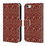 Head Case Designs Offizielle Assassin's Creed Gold Maeander Odyssee Muster Brieftasche Handyhülle aus Leder für iPhone 5 iPhone 5s iPhone SE
